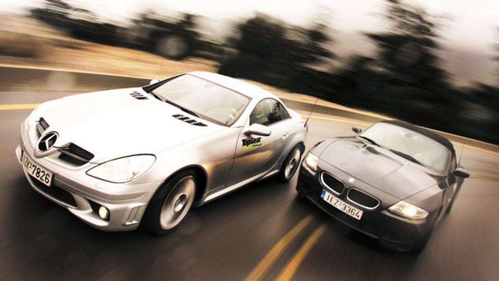 BMW Z4M vs Mercedes SLK AMG 55