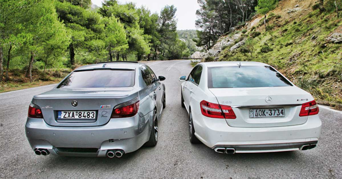 BMW M5 vs Mercedes E63 AMG