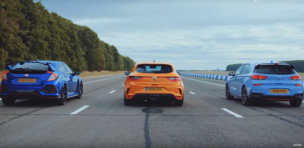 Civic Type R vs Megane R.S. vs Hyundai i30 N