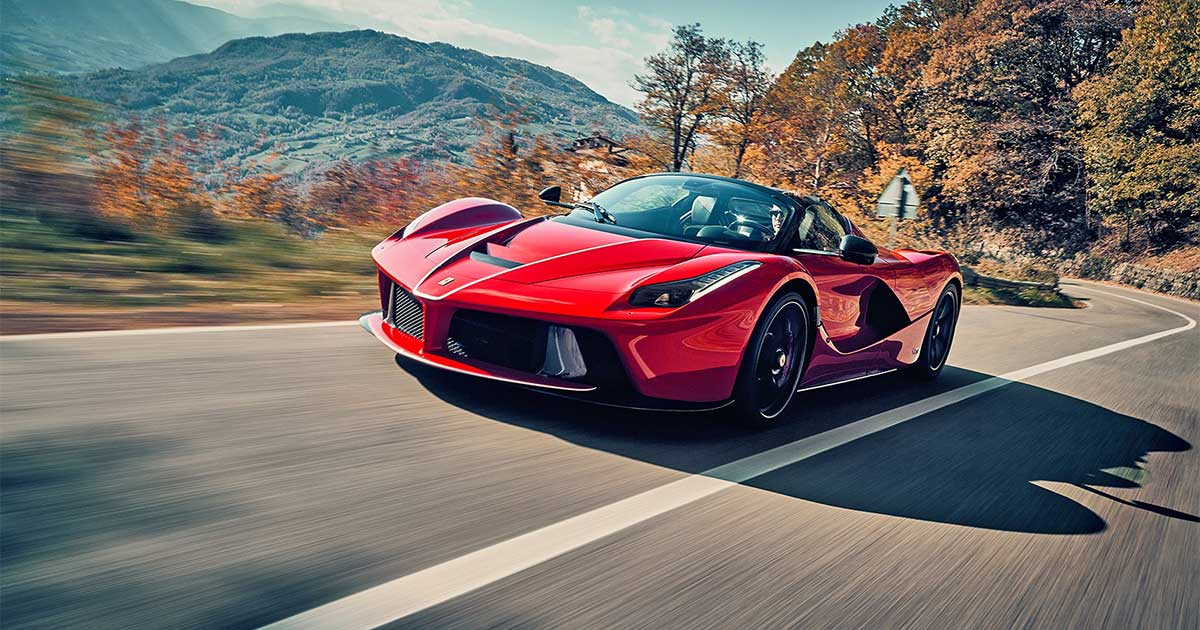 LaFerrari red