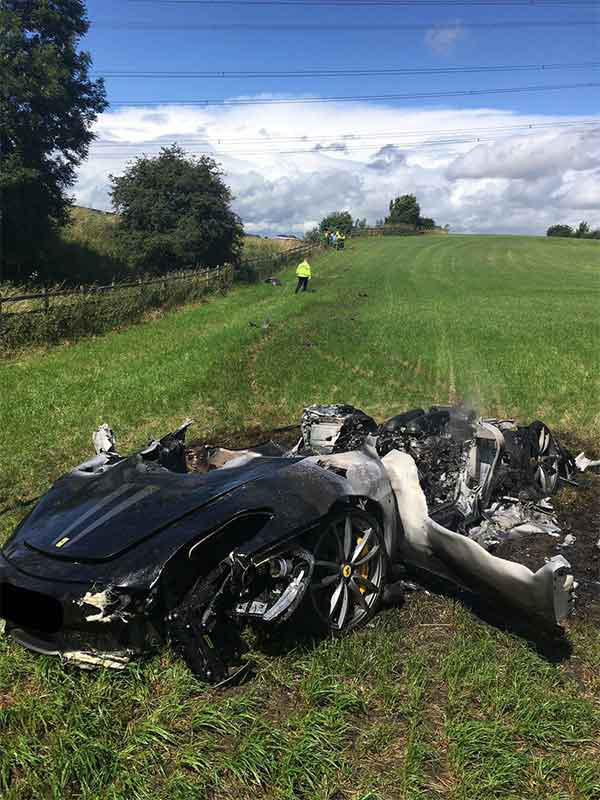 ferrari scuderia accident