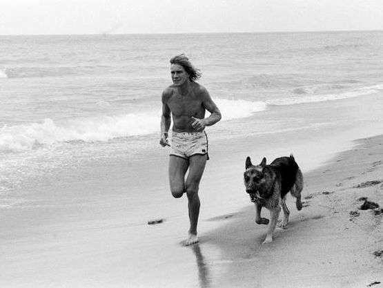 James Hunt and his dog