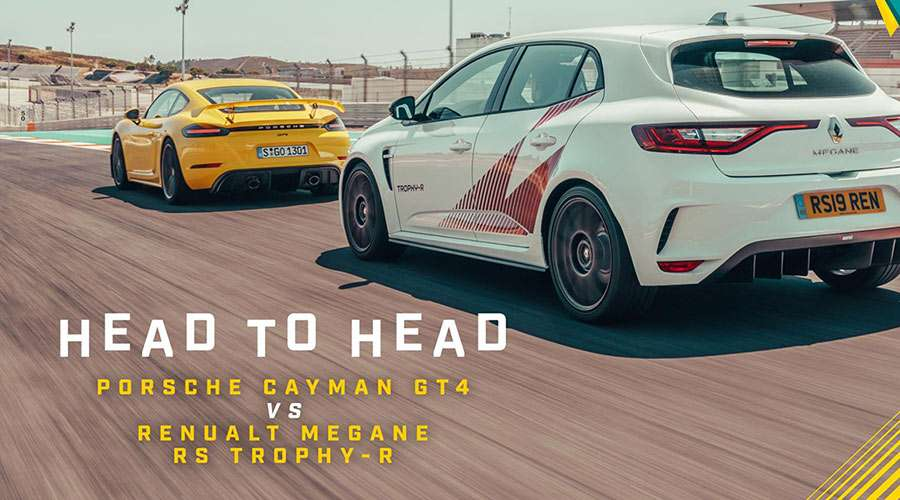 Cayman GT4 vs Megane RS Trophy R