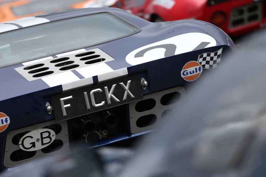 Ford GT40 Ickx πινακίδα