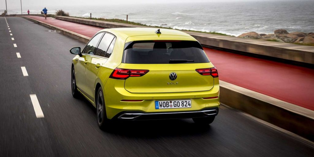 VW Golf Mk8 lemon yellow