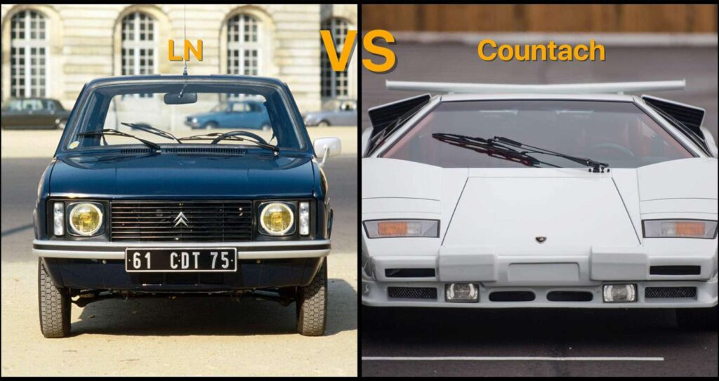 Citroën LN vs Lamborghini Countach