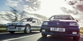 Hot hatch Peugeot 205 vs Clio Williams