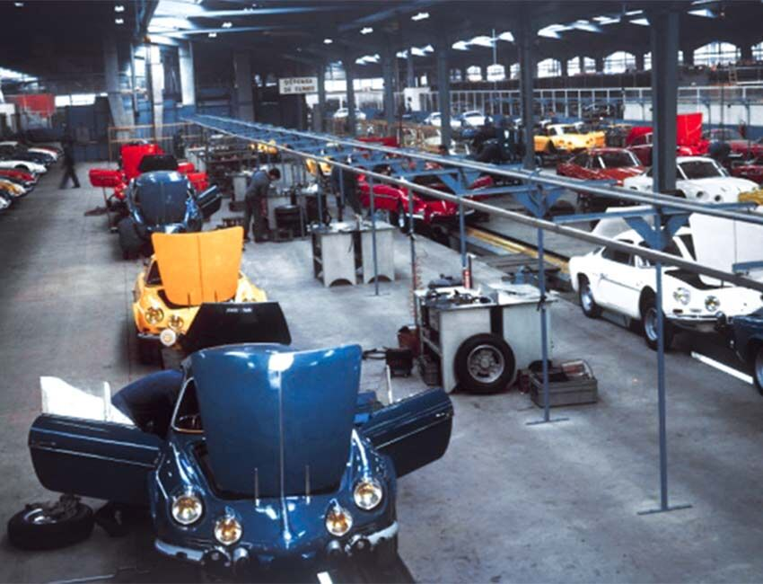 Alpine old factory