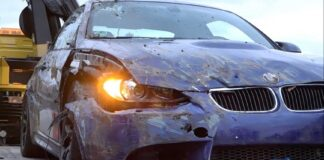BMW M3 E92 crashed