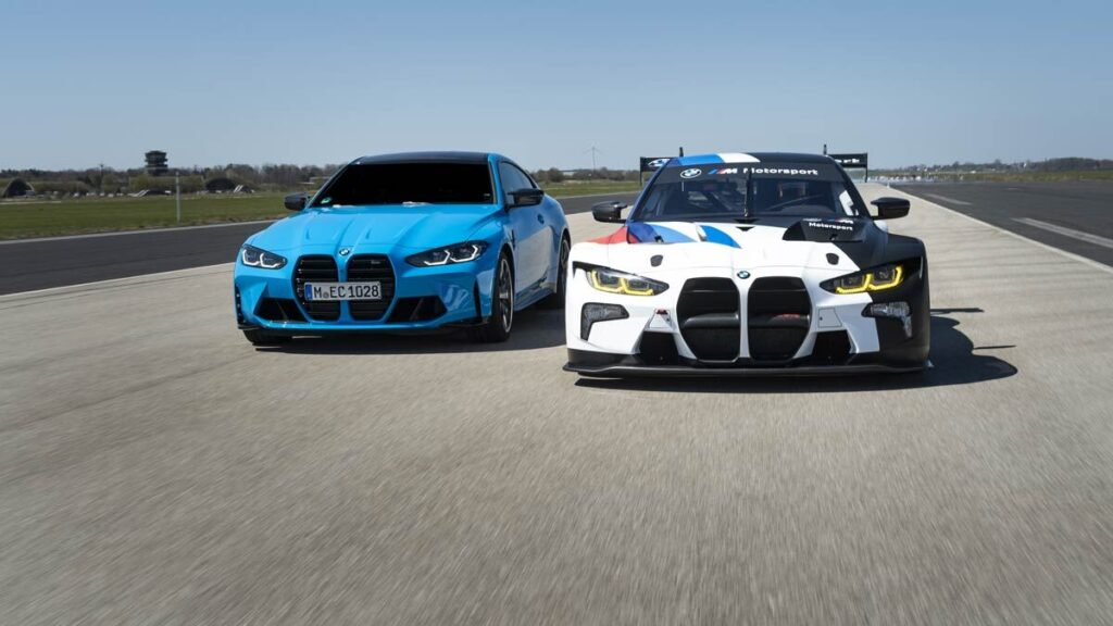 BMW M4 GT3 and M4